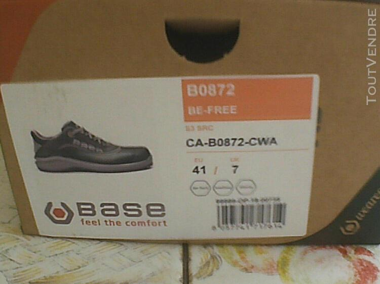 chaussure de secu de marque base embout coqué acier taille 0