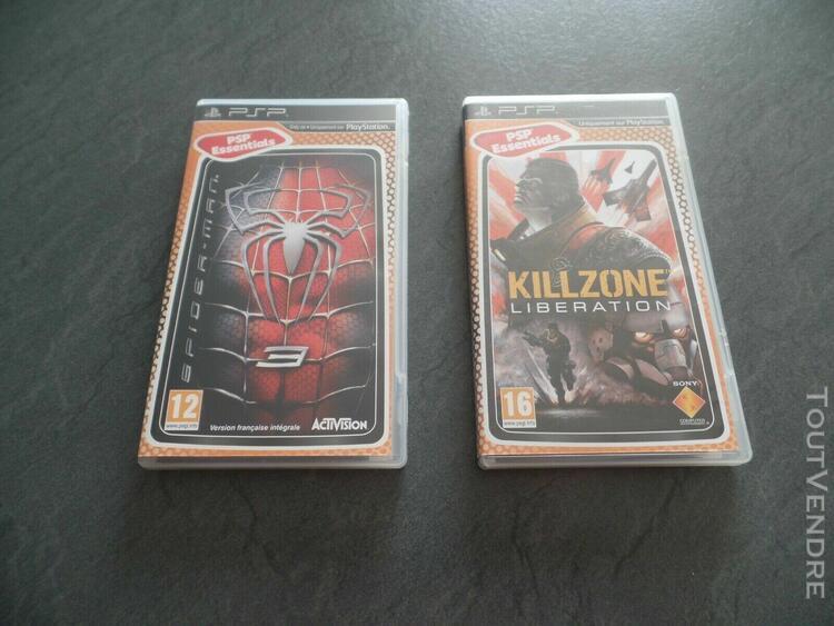 jeux psp spiderman 3 + killzone libération (lot de 2) 0