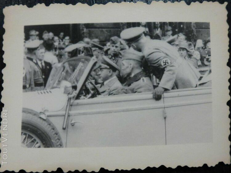 photo ww2 wwii am: dignitaires en voiture //b1.17 0