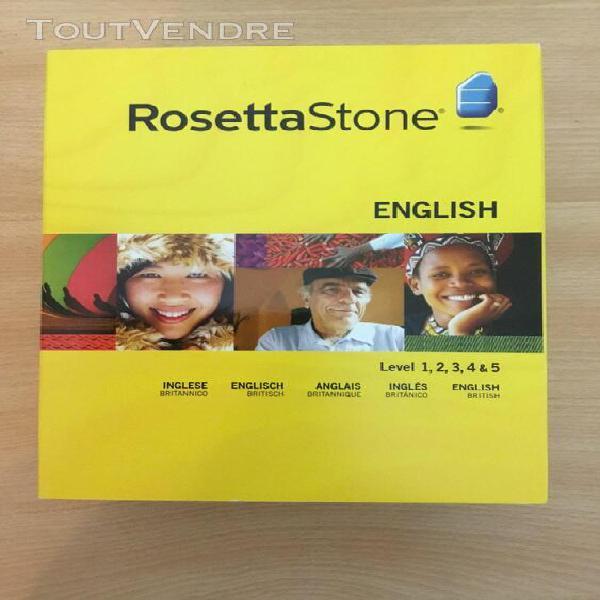rosetta stone: anglais (britannique) niveau 1, 2, 3, 4 & 5 0