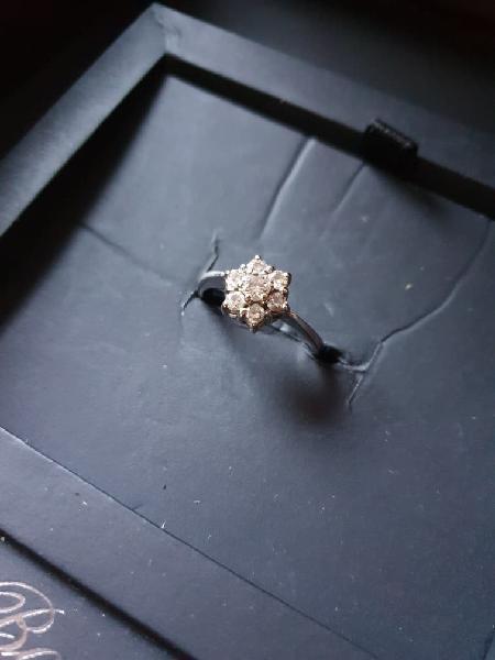bague or blanc fleur de diamant 0