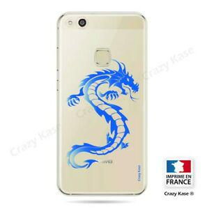 coque compatible huawei p10 lite souple dragon bleu - crazy 0
