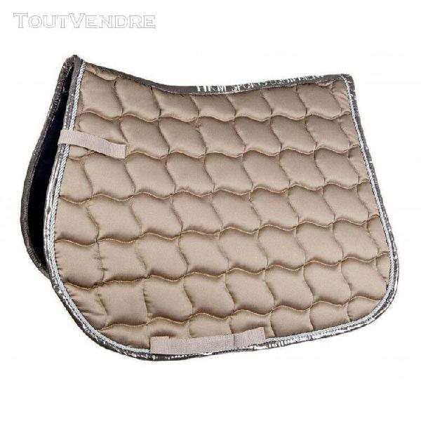 tapis hkm premium beige poney dressage 0