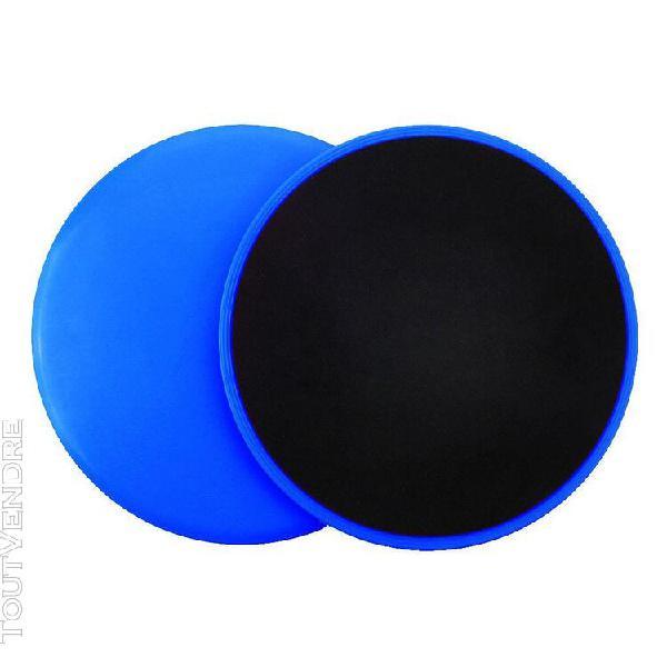 2pcs double face disques gliding fitness gym de base sliders 0