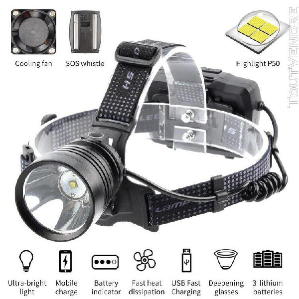 projecteur lumineux rechargeable projecteur led xhp50 leds h 0