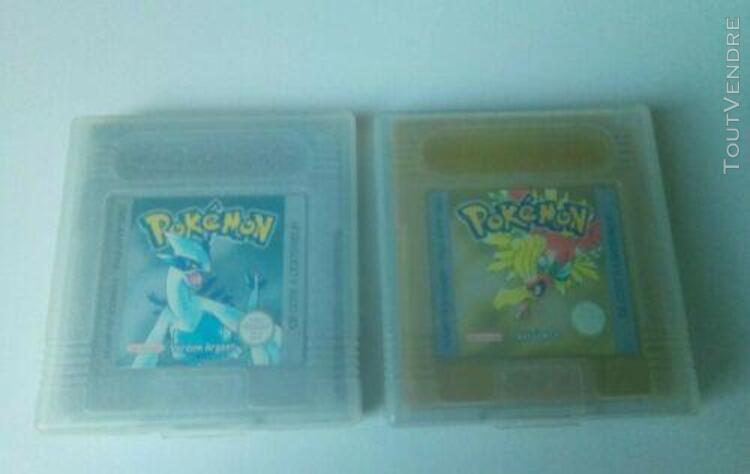 nintendo game boy - lot 2 pokemon version or et argent - tes 0