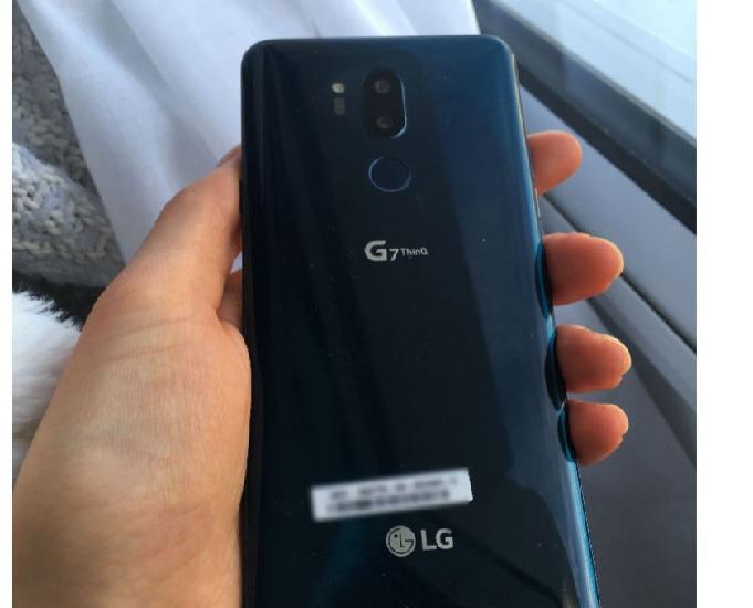 smartphone lg g7 thinq bleu 64go 0