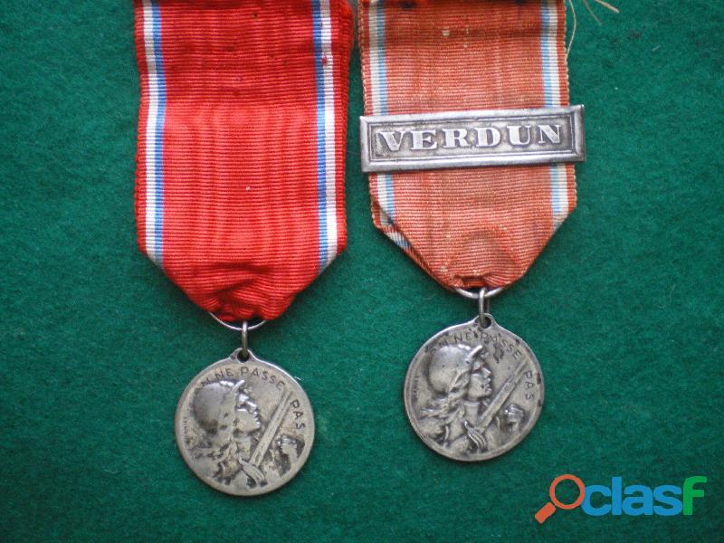 Médailles de verdun modèle vernier en argent