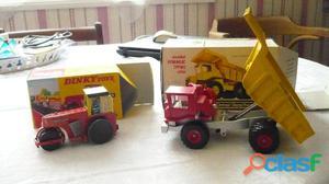 DINKY SUPER TOYS N° 924 & 279 AVELING BARFORD 'CENTAUR' DUMP TRUCK & ROAD ROLLER