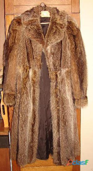 Manteau marmotte pleine peau