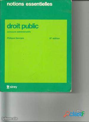 Notions essentielles de droit public (idéal pour concours administratifs)