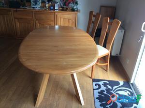 Table salle à manger orme massif