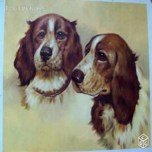 Grande peinture animaliere chiens