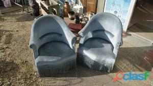 Paire fauteuils crapaud