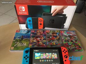 Nintendo switch zelda botw + mariokart deluxe 8