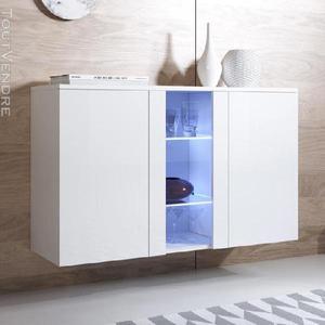 Bahut modèle luke a1ou a2 (120x70cm) couleur blanc ou noir