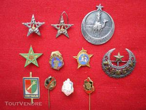 Insignes coloniaux   spahis marocains   tirailleurs   génie