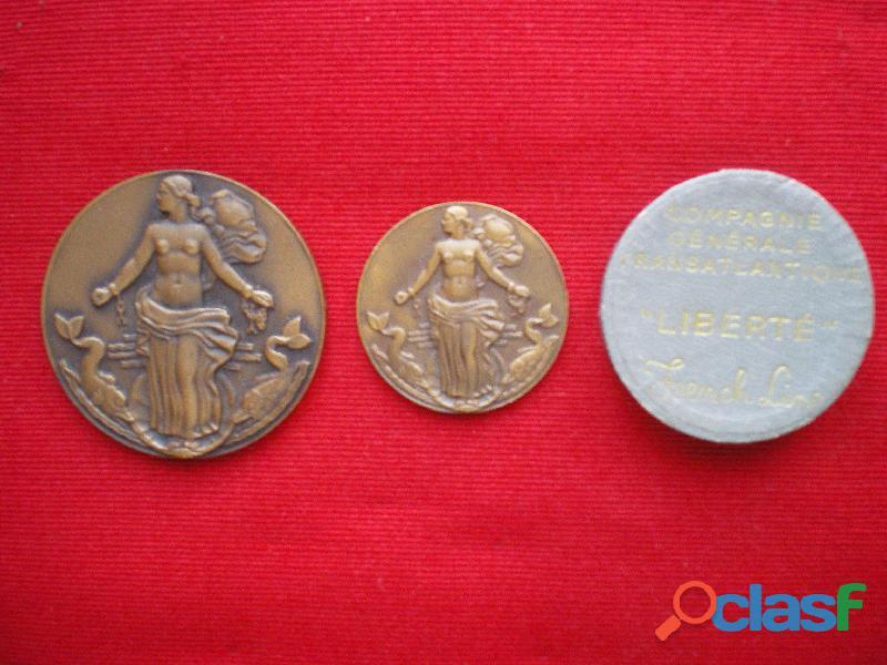 Médailles de la compagnie générale transatlantique.
