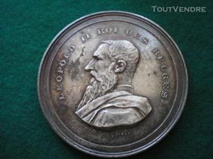 Médaille de léopold ii roi des belges
