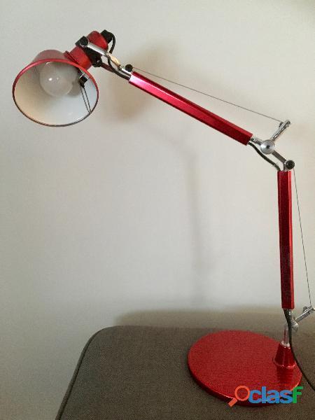 Lampe bureau tolomeo mini rouge
