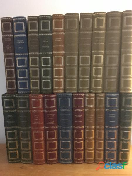 Lot 20 beaux livres reliés cuir, editions rencontre, 1968