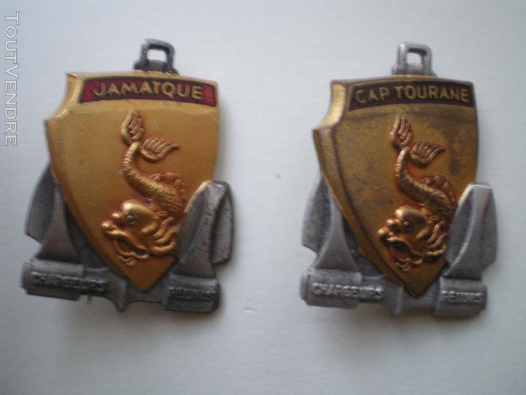 insigne de marine   Cap TOURANE et JAMAIQUE.