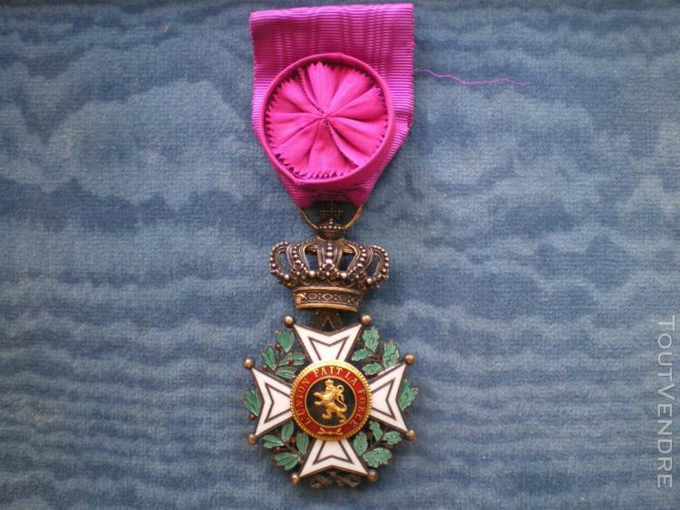 Ordre de léopold 1er chevalier  order of leopold belgium.