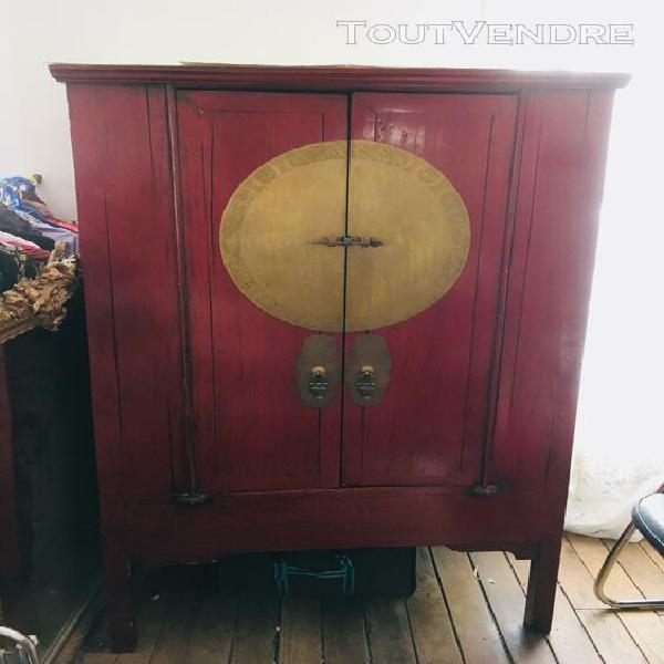 Armoire Chinoise Laquee Rouge Bright Shadow Online