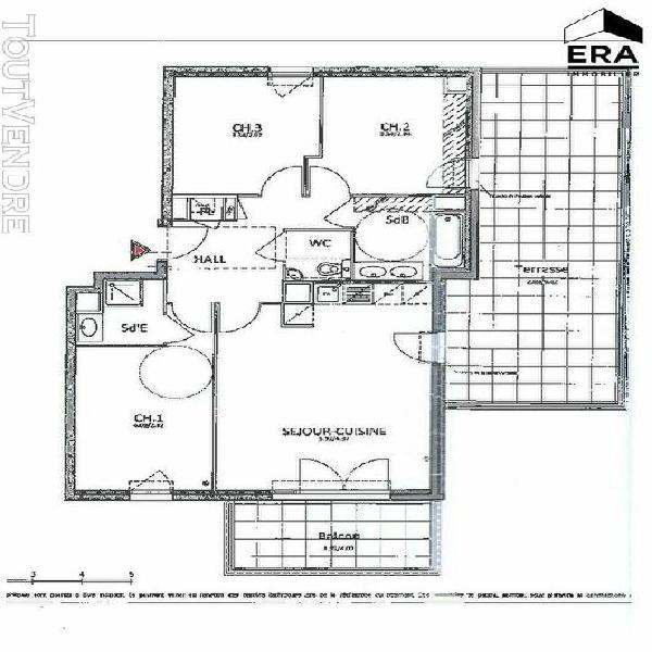 Appartement grasse 4 pièces 75m² grasse 06130 vente