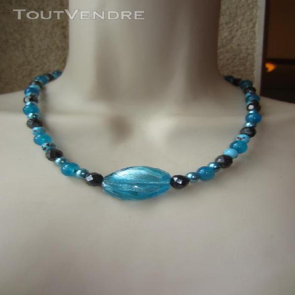 Collier bleu et noir chalonnes-sur-loire 49290 bijoux &