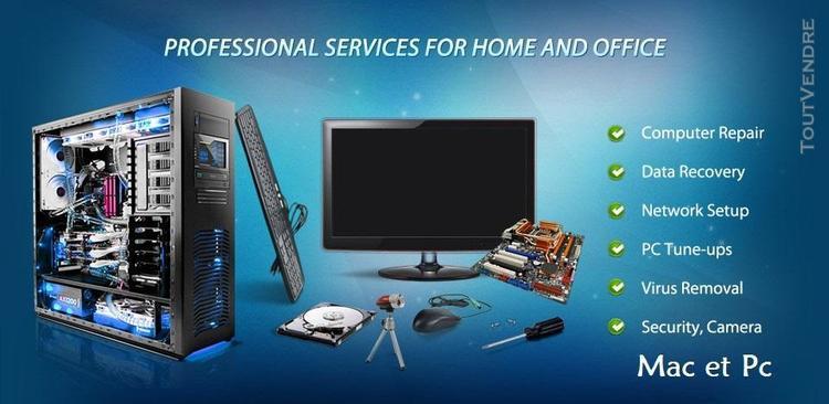 Réparations materiel et logiciel informatique pc et mac