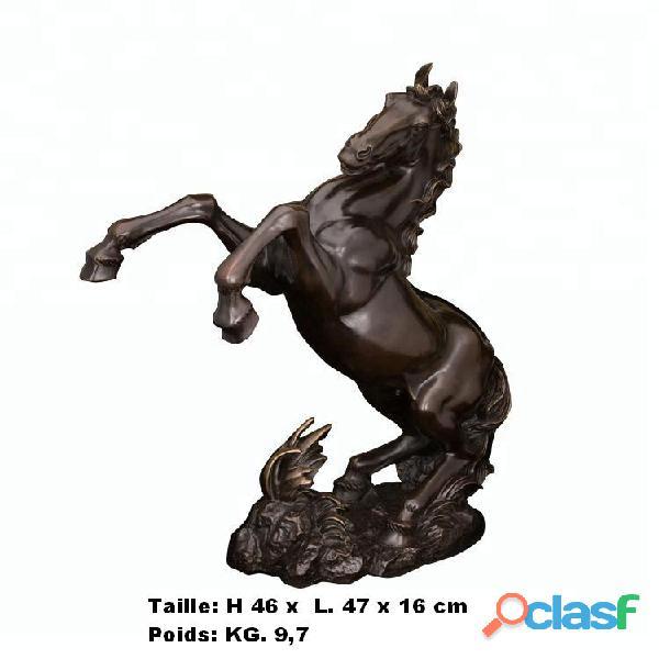 Sculpture '' de cheval grimpant '' en bronze