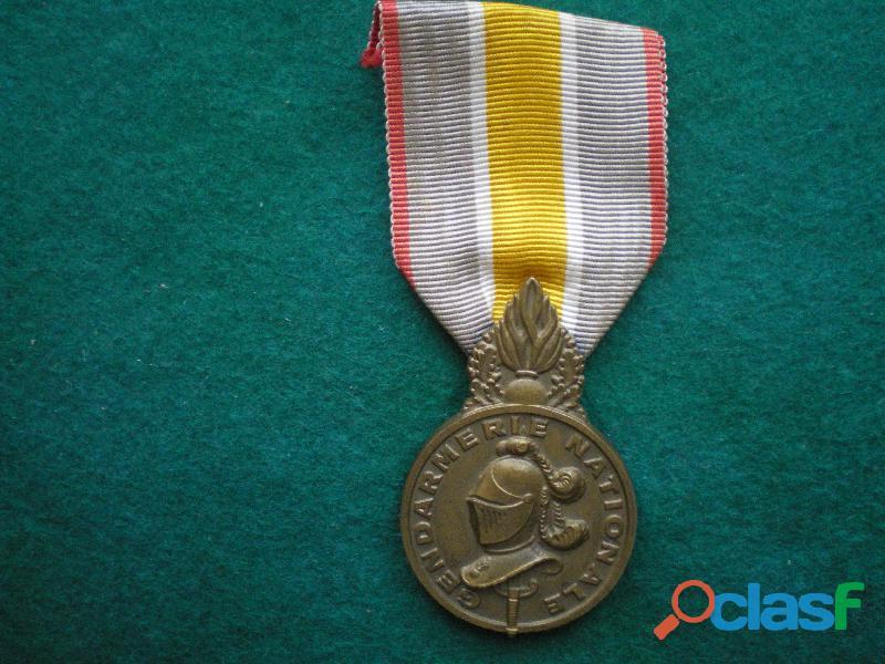 Médaille de la gendarmerie nationale.