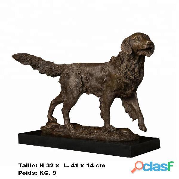 Sculpture '' chien de chasse de e. truffo'' en vrais bronze