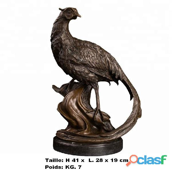 Sculpture '' Faisan de G. Seiya '' en vrais bronze