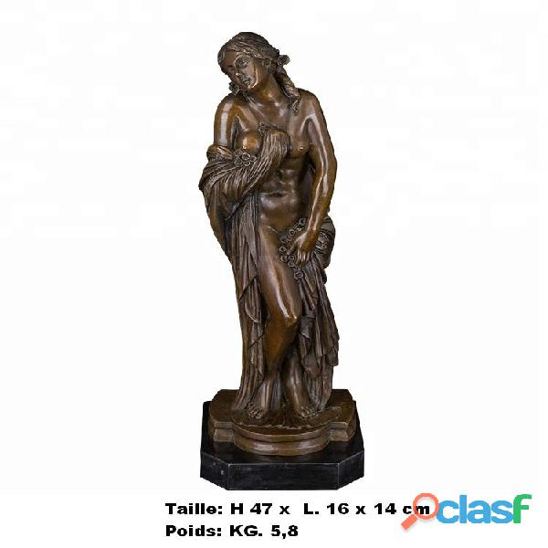 Sculpture '' Statue de femme nue '' en vrais bronze