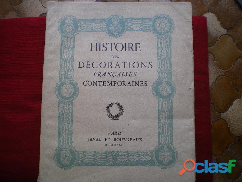 Livre Histoire des Décorations Françaises par R. ANCHEL