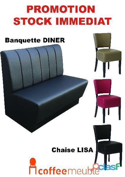 Chaise,banquette,table de brasserie restaurant