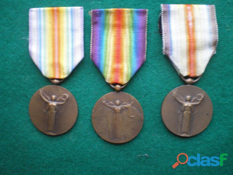 Médailles inter alliée de la victoire 1918