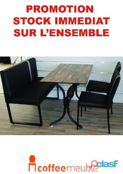Chaise et banquette de restaurant et brasserie