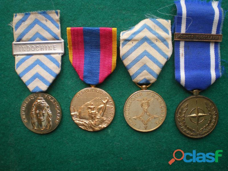 Médailles de la Reconnaissance de la Nation   OTAN   Afrique du Nord et Défense Nationale.