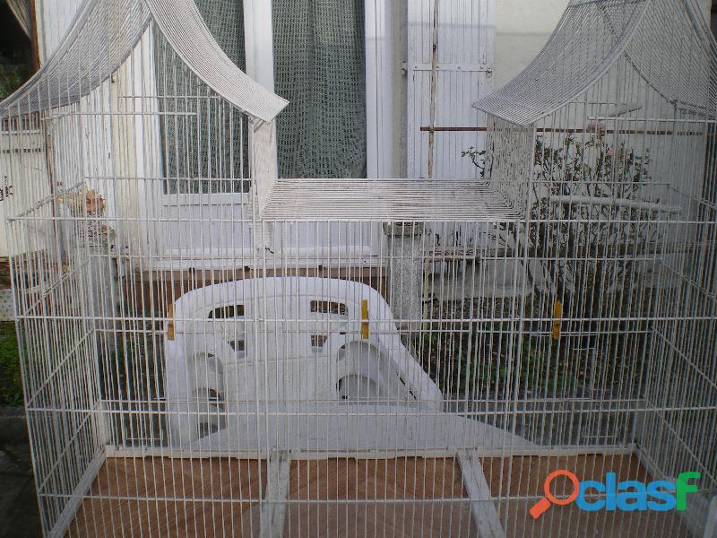 Cage volière pour oiseaux.