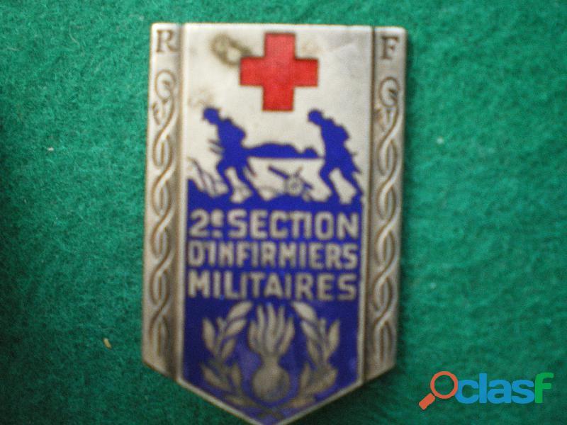 Insigne de santé   2° Section d'Infirmiers Militaires   Amiens.