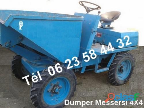 Dumper sambron messersi diesel 4 x 4 benne hydraulique