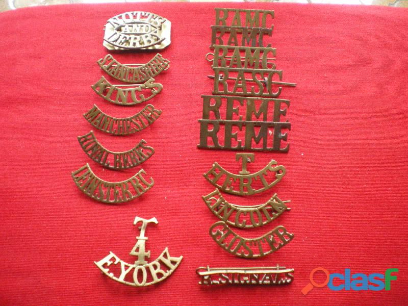 Insignes de régiments britanniques en métal