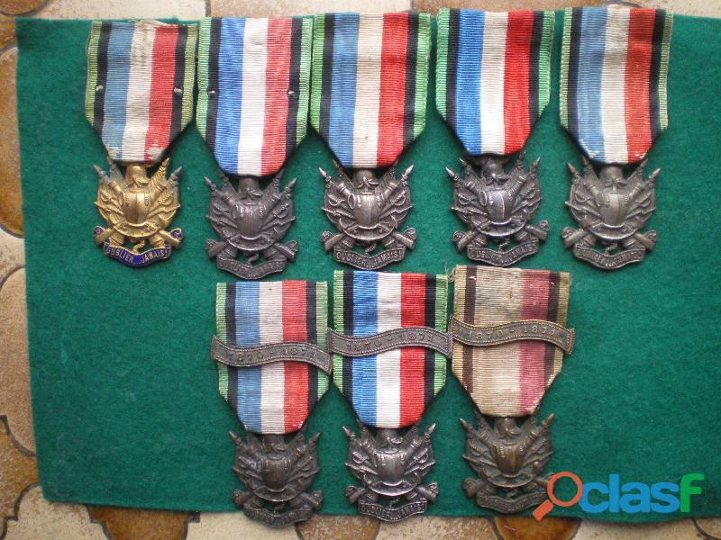 Médailles des Vétérans de 1870 1871.