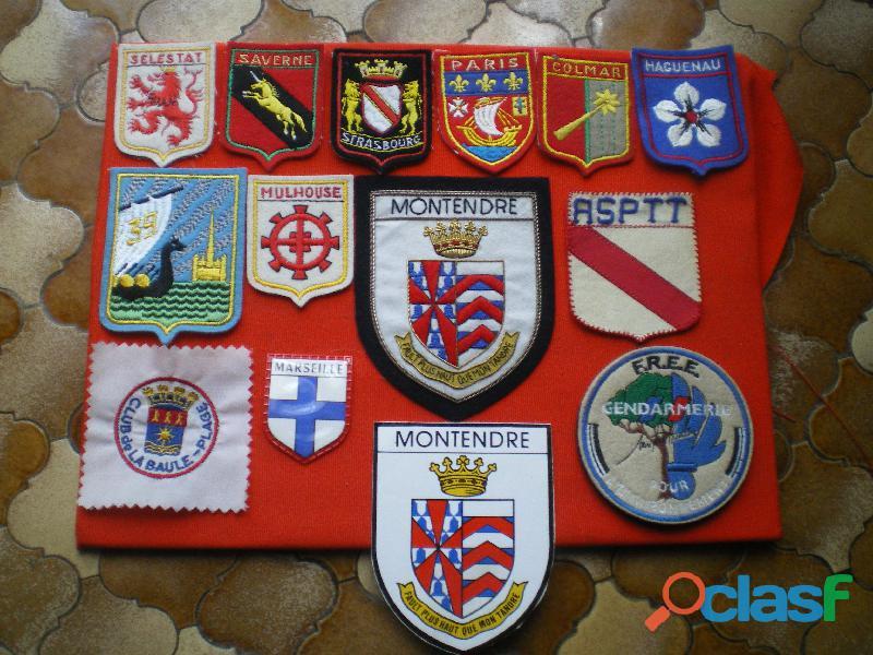 Insignes en tissu Gendarmerie N.B.C. et divers.