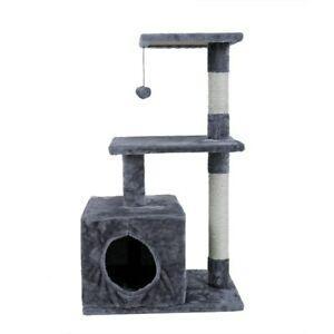 Arbre à chat pantera avec niche, sisal, et balle de jeux -