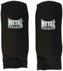 Metal boxe - proteges avant bras tissu mousse noir