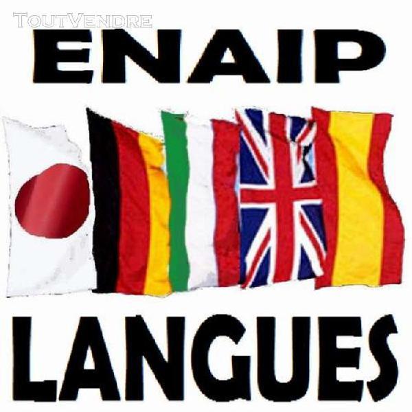 Cours anglais allemand italien espagnol japonais français